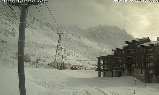 webcam belle plagne 18 octobre 2012