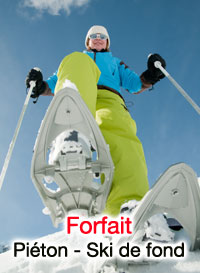 forfait piétons et ski de fond à la plagne