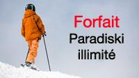 tarifs forfait ski paradiski illimité