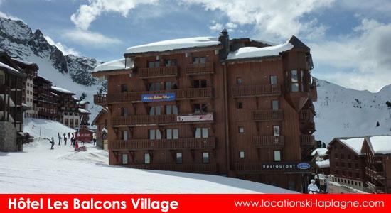 hotel les-balcons village belle plagne