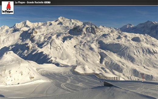 ouverture domaine skiable de la plagne 15 décembre 2012