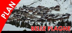 plan belle plagne station de ski